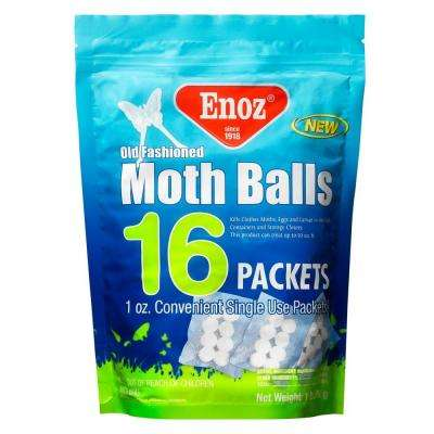 16 oz. Old Fashioned Moth Ball Packets Re-Sealable Bag