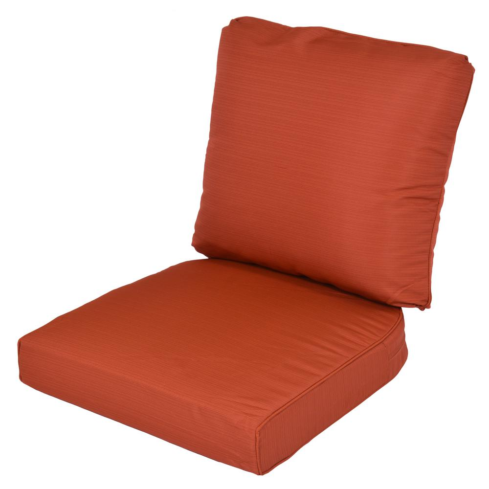 Lemon Grove Quarry Red Replacement 2-Piece Outdoor Dining Chair Cushion