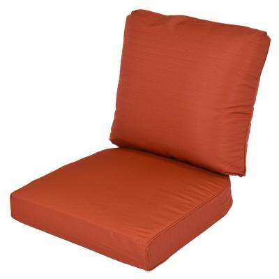 Lemon Grove Quarry Red Replacement 2 Piece Outdoor Dining Chair Cushion