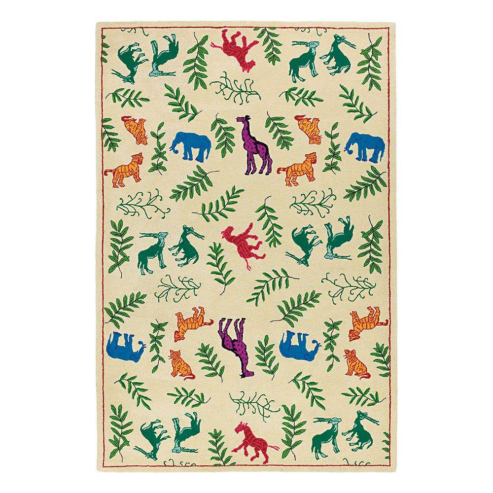 Kaleen Indra Shar Ivory 7 ft. 6 in. x 9 ft. Area Rug-DISCONTINUED