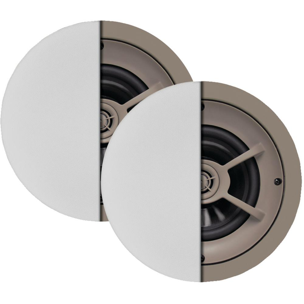 6.5 in. 2-Way Graphite Ceiling Speakers