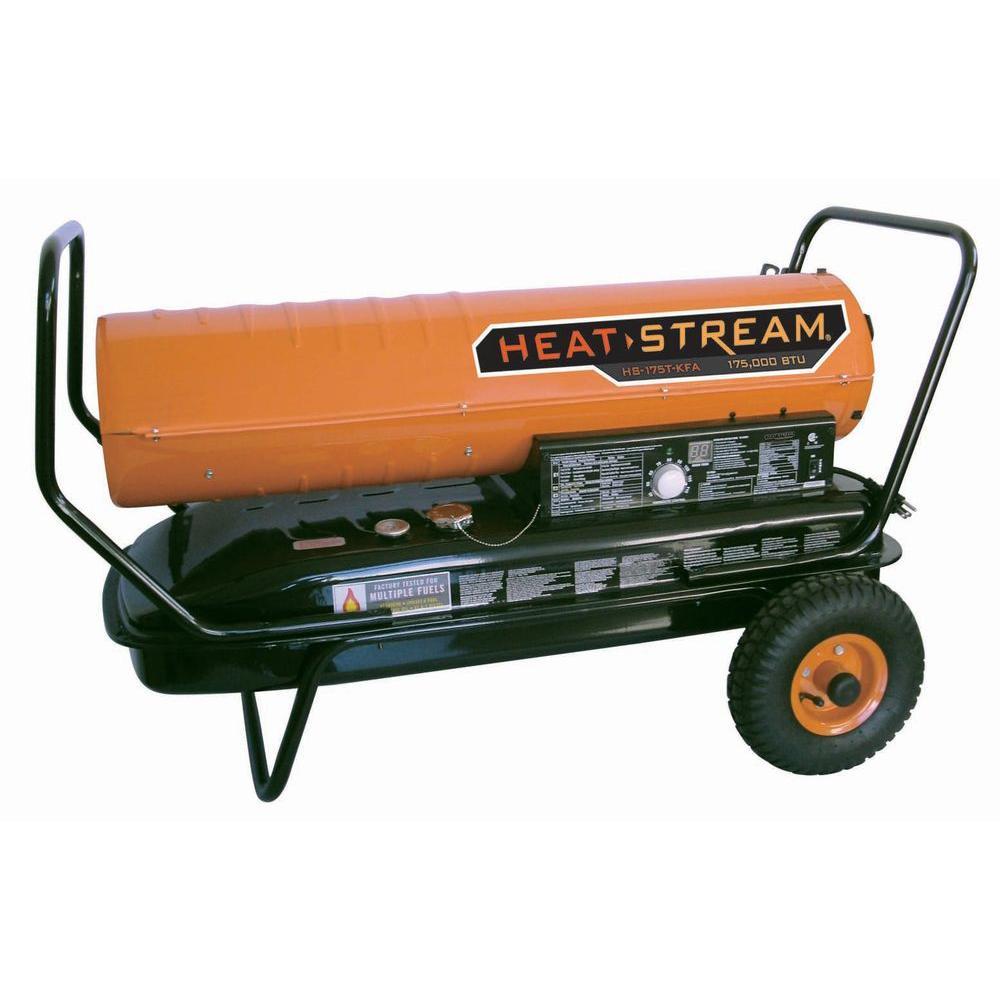 215,000 BTU Unvented Forced-Air Kerosene Heater