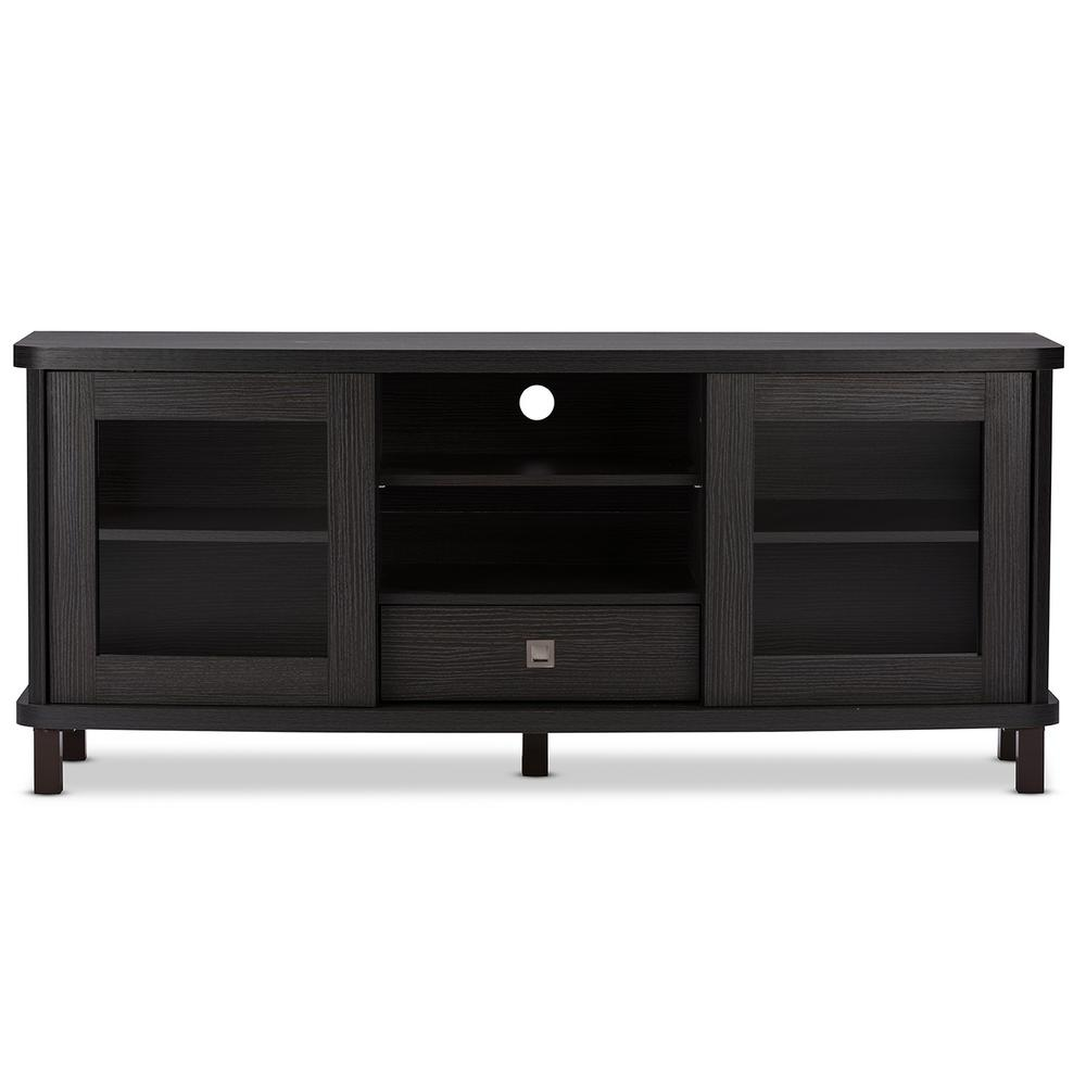 Wood Tv Stands Product ~ Baxton studio walda dark brown wood entertainment center