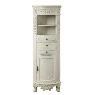 Winslow 22 in. W x 14 in. D x 67.5 in. H Single Door Linen Cabinet in Antique White