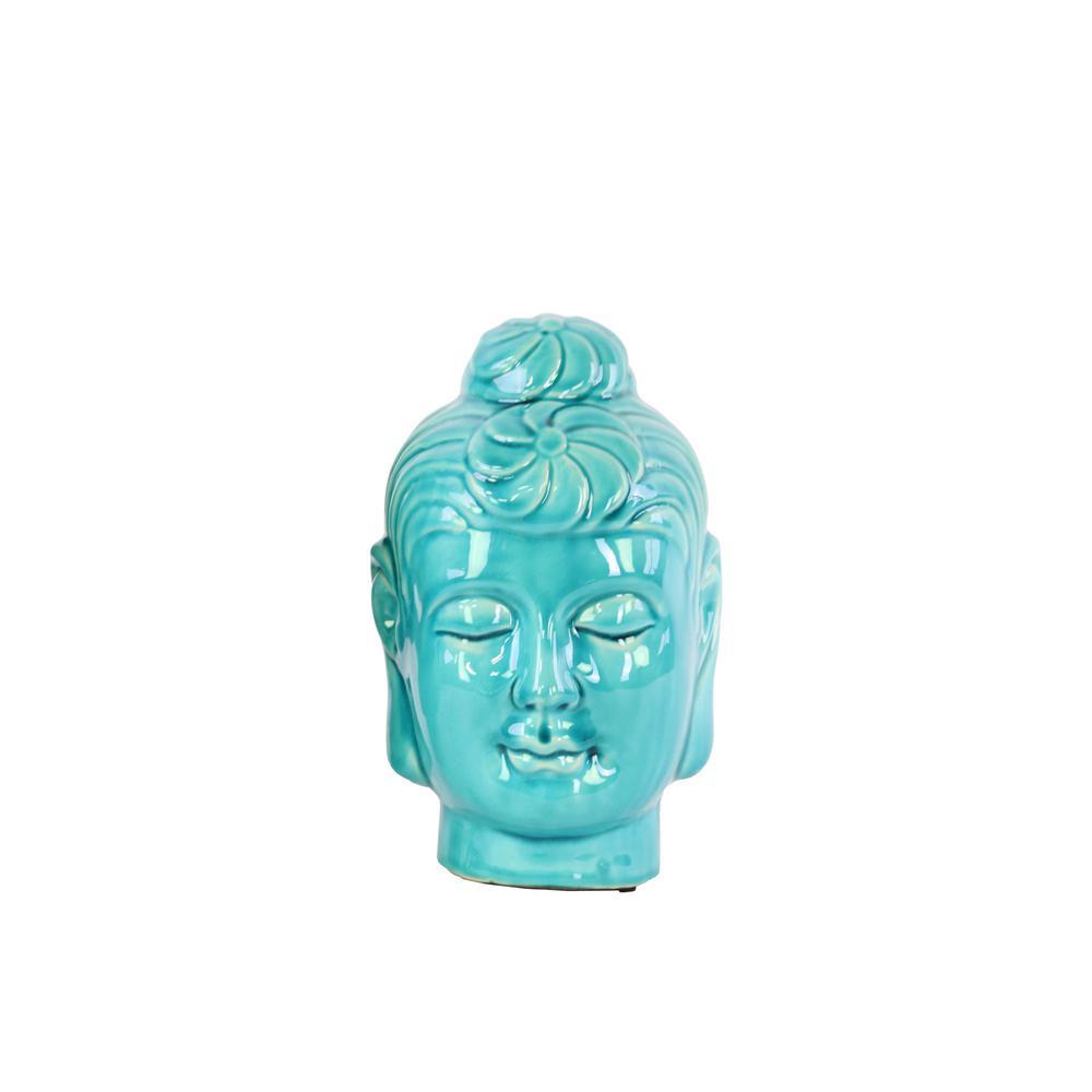 Urban Trend 8 in. H Buddha Decorative Sculpture in Turquo...