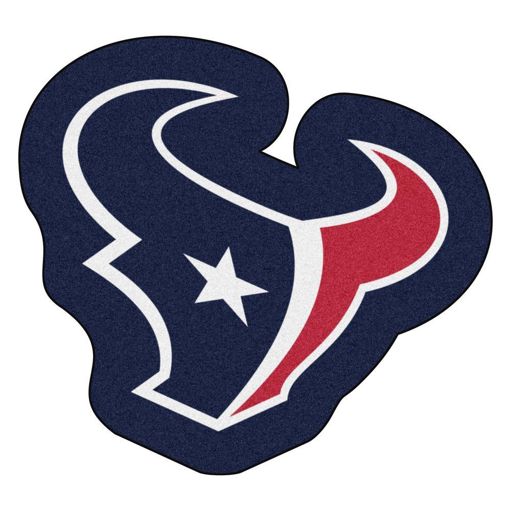 NFL - Houston Texans Mascot Mat 36 in.  x 33.3 in. Indoor  Area Rug