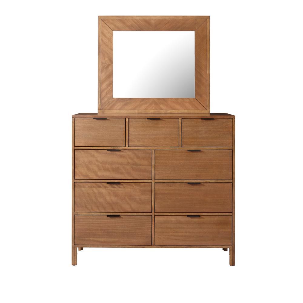 Strategy 9-Drawer Jute Dresser with Mirror