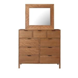Strategy 9-Drawer Jute Dresser with Mirror