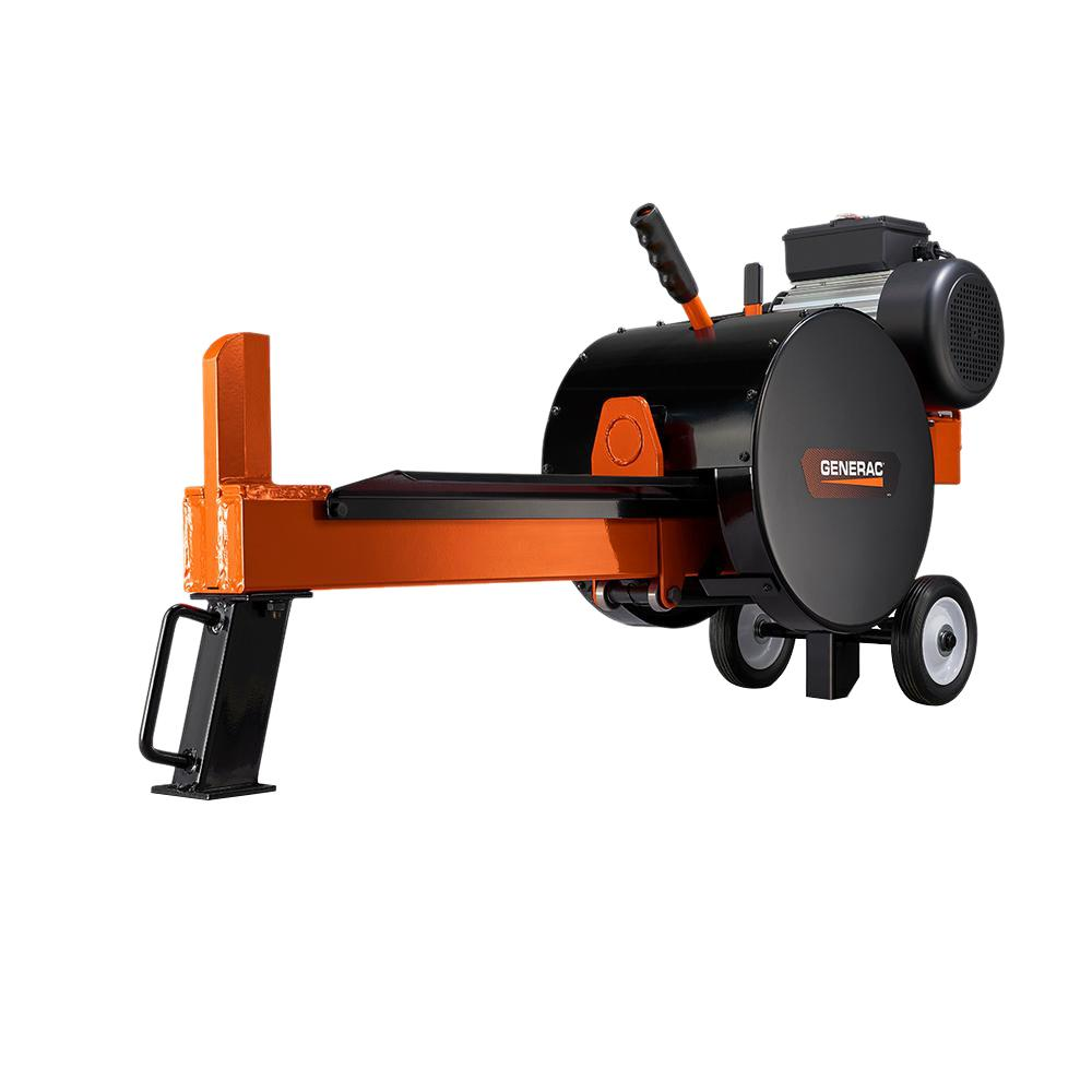 generac 10 ton 15 amp kinetic electric log splitter wdsrxgcnxqdox3 the home depot. Black Bedroom Furniture Sets. Home Design Ideas