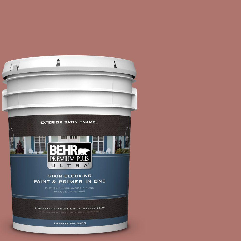 BEHR Premium Plus Ultra 5-gal. #S160-5 Hot Chili Satin Enamel Exterior Paint