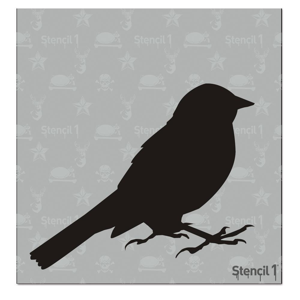 Bird 5 Small Stencil