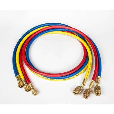 5 ft. Long PolarShield Hoses with 1/4 in. FFL Connections and Automatic Shut-Off Valve (Set of 3)