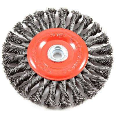 6 in. x 1/2 in. and 5/8 in. Arbor Twist Knot Crimped Wire Wheel Brush
