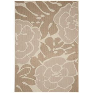 Garland Rug Valencia Tan Ivory 5 Ft X 7 Ft Area Rug Ll490a060084g3 The Home Depot