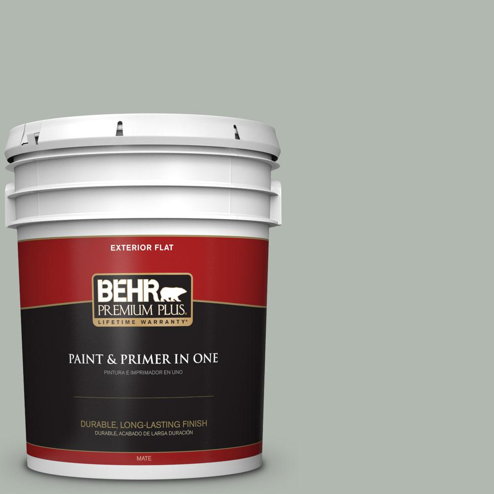 5 gal. #PPU12-14 Verdigris Flat Exterior Paint