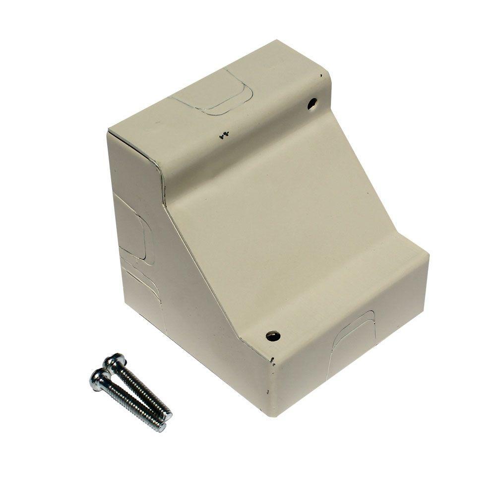null 2-Gang Corner Box - Ivory