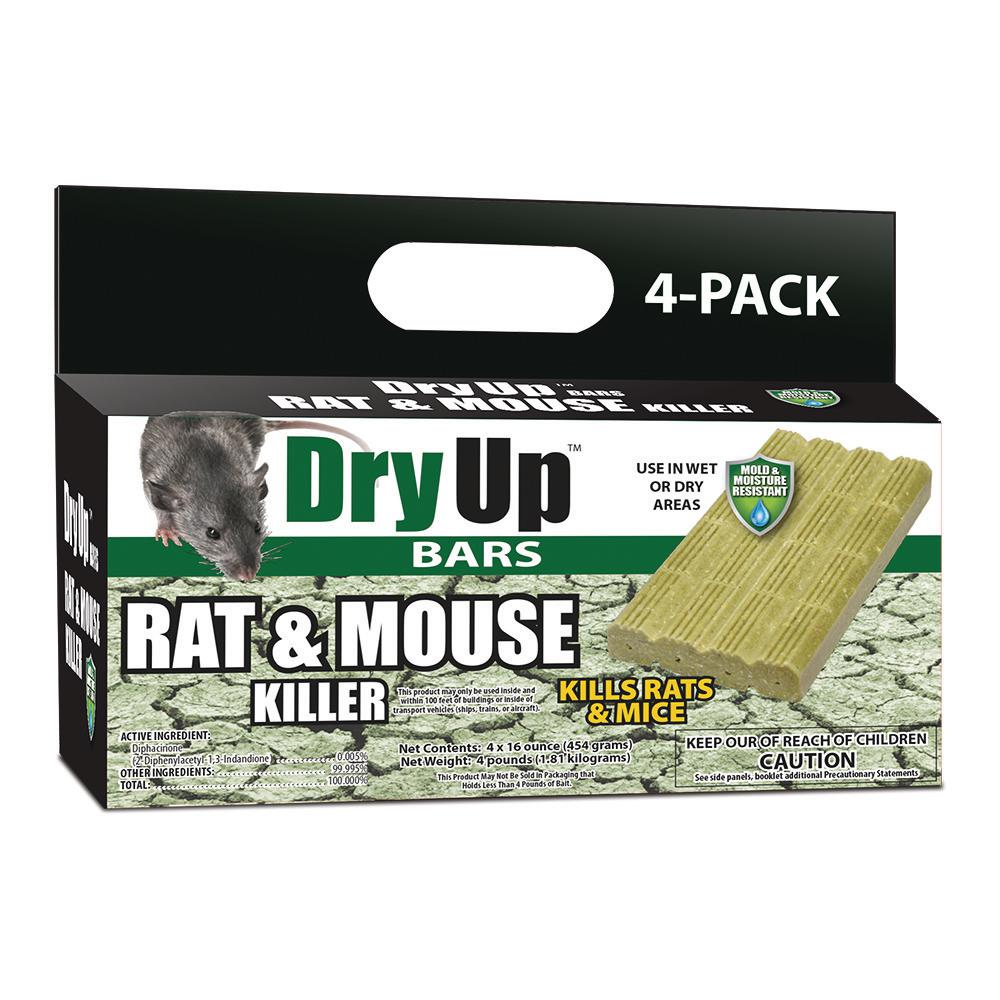 Harris Dry Up Rat And Mouse Killer Bars 4 Pack Dry Bar The Home Depot