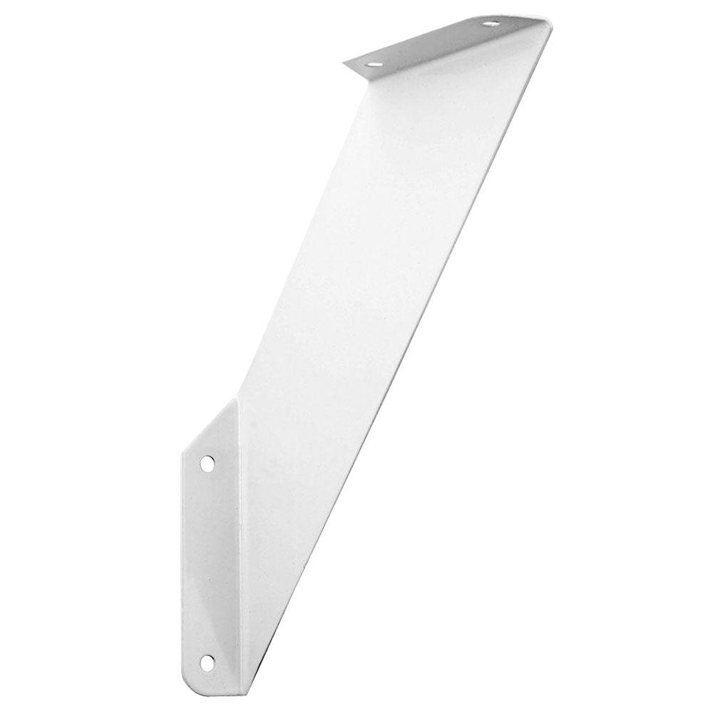 White Over Under Shelf Bracket