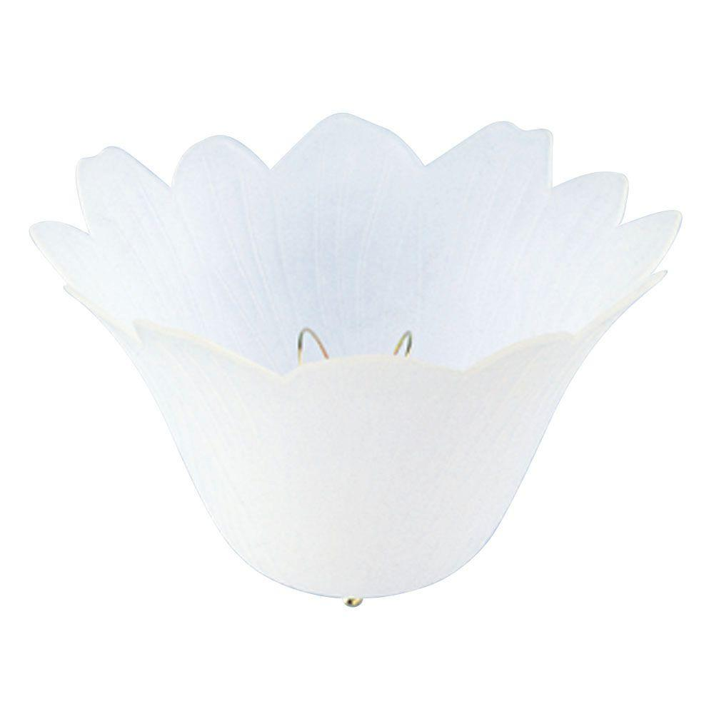 westinghouse 4-3/4 in. polypropylene satin tulip clip-on shade