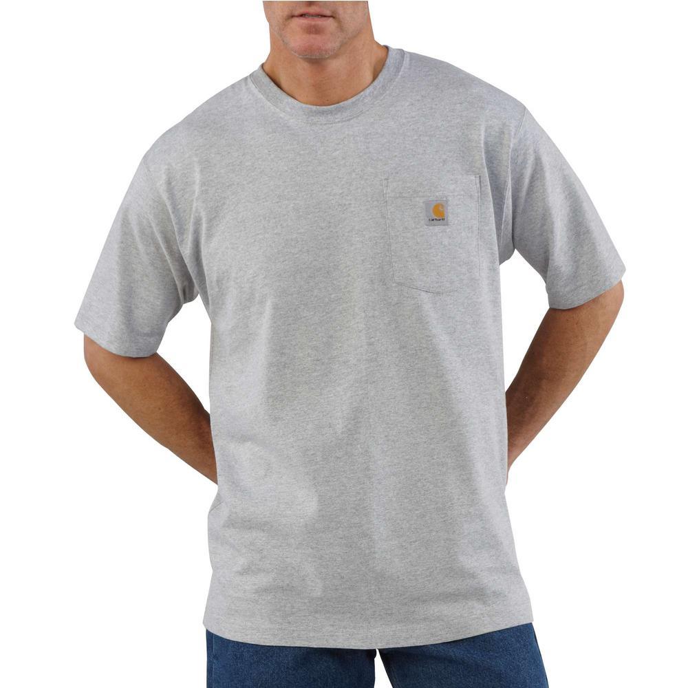 Carhartt Tall Fit Cotton K87 Big Regular Men/'s Work Wear Pocket T-shirt