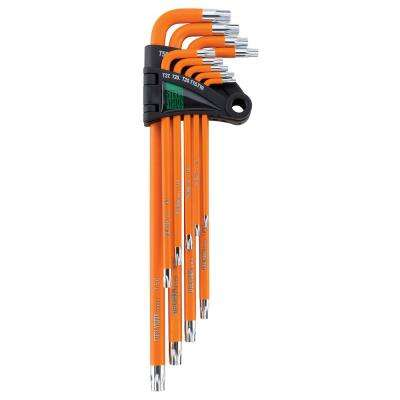 Extra Long Orange Tamper Resistant Star Key Set (9-Piece)