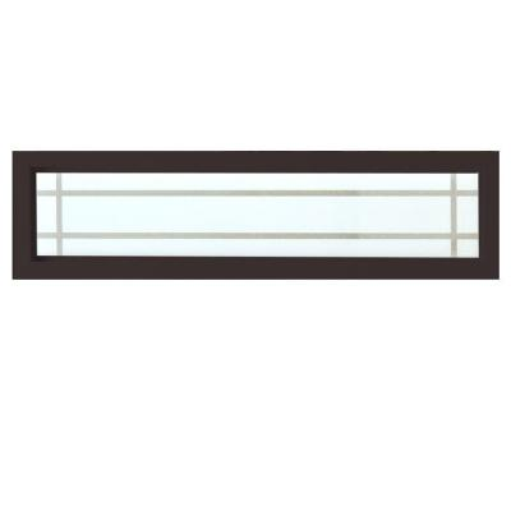47.5 in. x 11.5 in. Prairie Decorative Glass Picture Vinyl Window - Bronze
