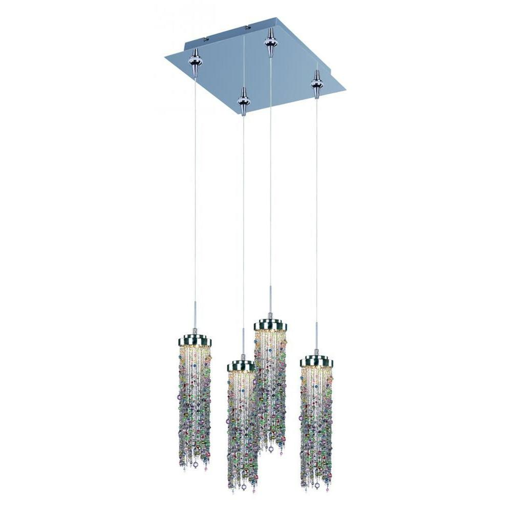 CLI Coit 4-Light Polished Chrome LED Pendant