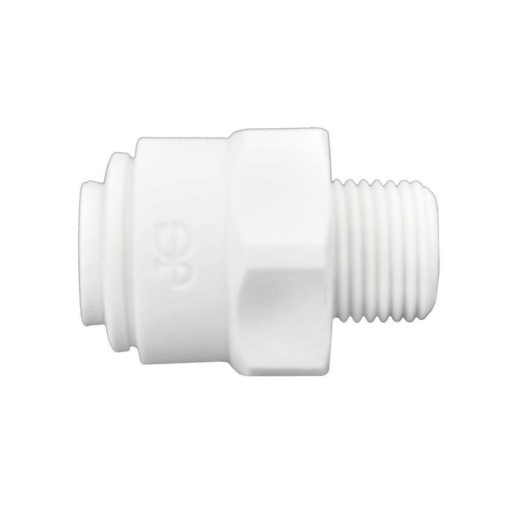 1/4 in. O.D. x 1/8 in. NPTF Polypropylene Push-to-Connect Male Connector