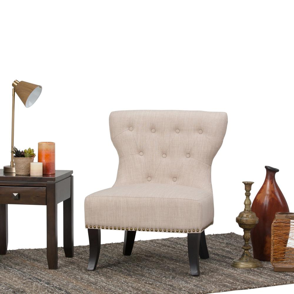 Simply Home Kitchener Natural Polyester Accent Chair