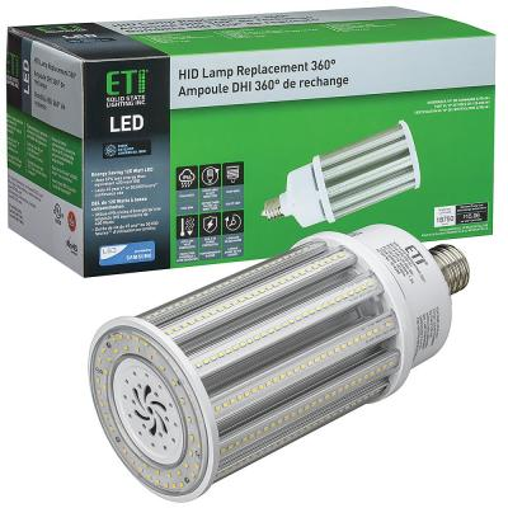 8 in. 400-Watt Equivalent Corn Cob EX39 Mog LED Light HID Replacement 360-Degree 125-Watt 18,750 Lumens 5000K Daylight