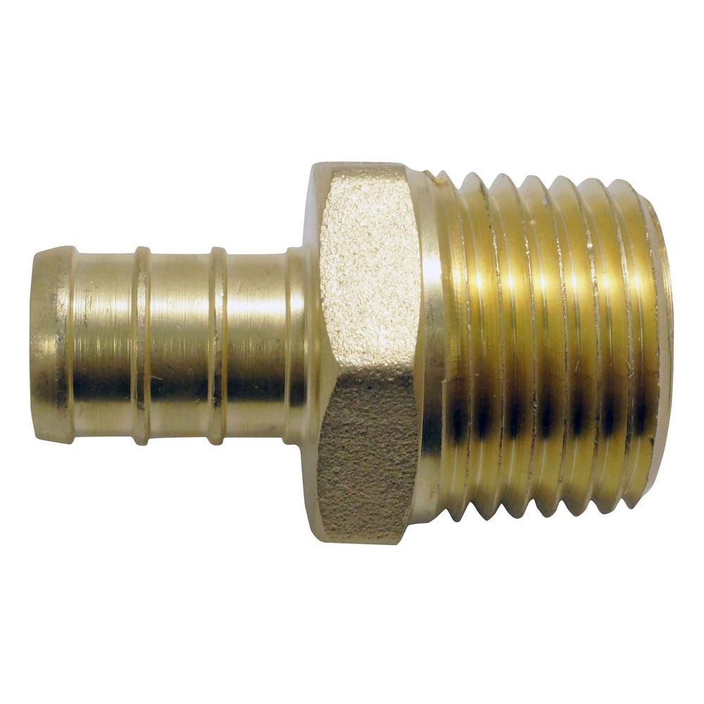 1/2 in. Brass PEX Barb x Male Pipe Thread Adapter (50-Pack)