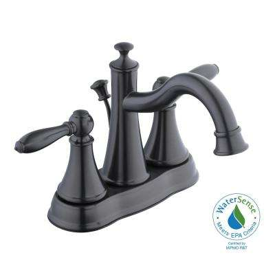 Varina 4 in. Centerset 2-Handle High-Arc Bathroom Faucet in Bronze