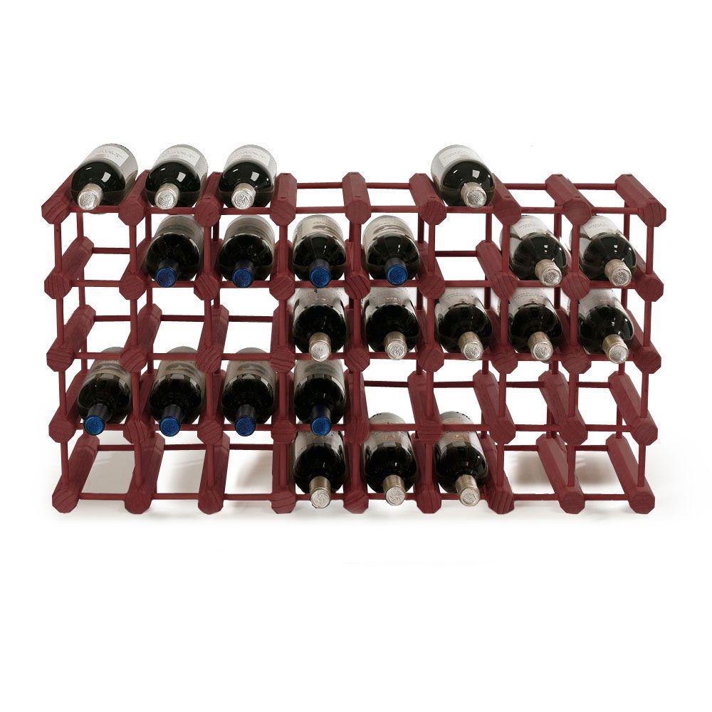 40-Bottle Mahogany Floor Wine Rack
