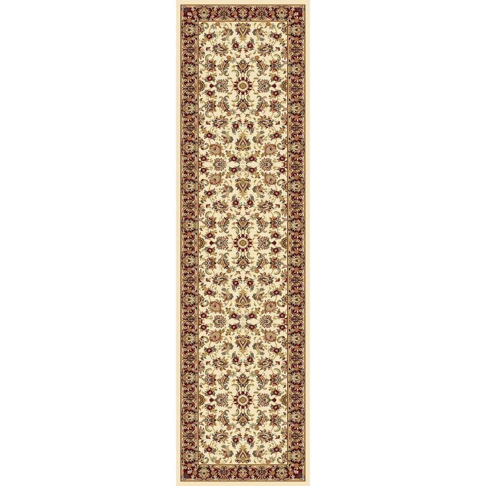 Concord Global Trading Williams Collection Ararat Ivory 2 ft. 2 in. x 7 ft. 10 in. Rug Runner