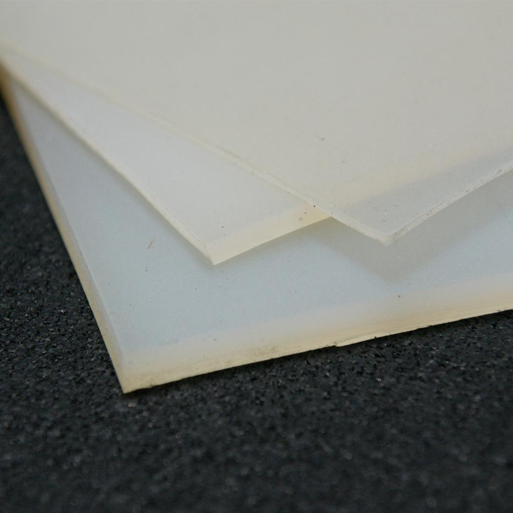 Rubber Cal Silicone 1 16 In X 36 In X 12 In Translucent Commercial Grade 60a Rubber Sheet 20 119 0062 36 012 The Home Depot