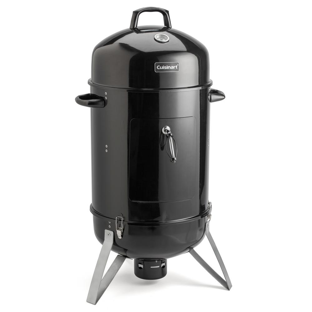 Cuisinart Vertical 16 In Charcoal Smoker And Grill Cos