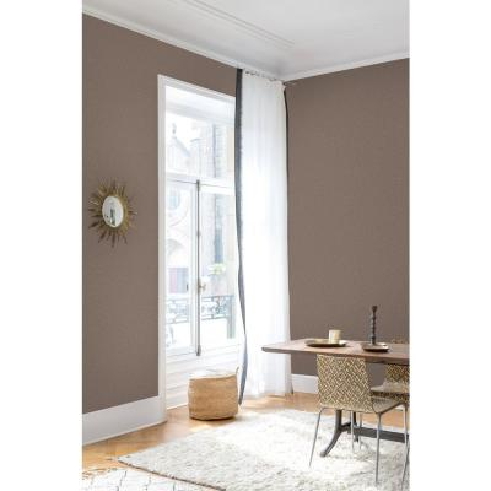 Copper Linen Plain Wallpaper