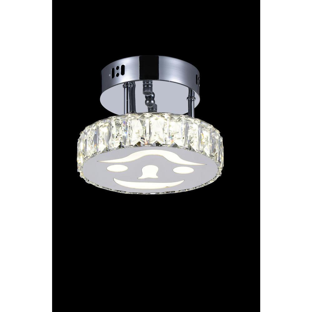Expression 1-Watt Chrome Integrated LED Ceiling Semi-Flushmount