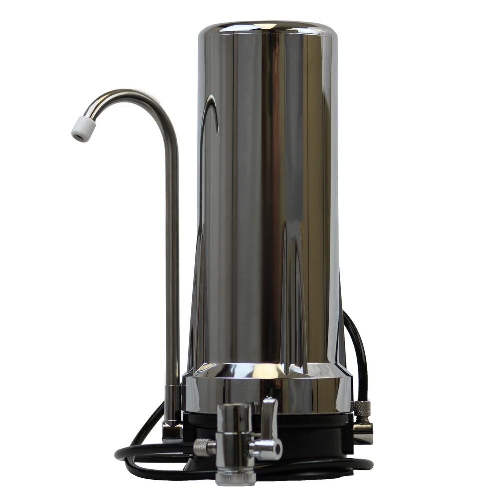 2-Stage Countertop Water Filter in Chrome