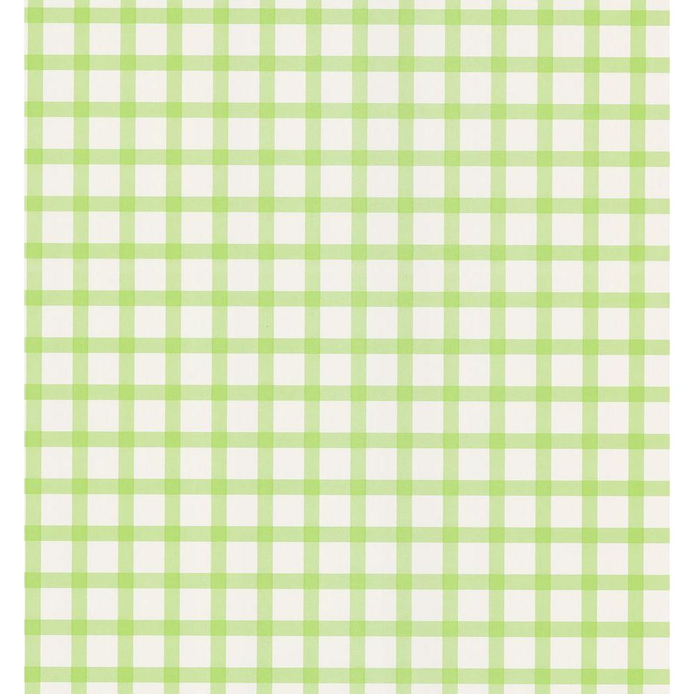 National Geographic Lime Green Plaid Wallpaper Sample