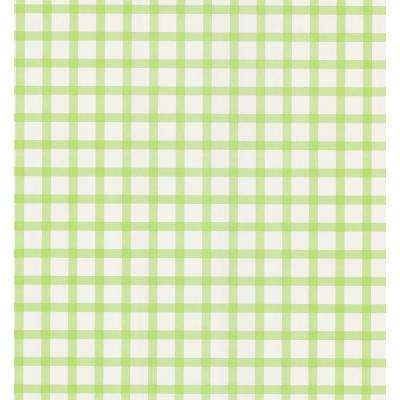 Lime Green Plaid Wallpaper Sample