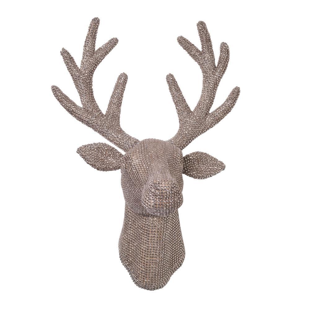 18.5 in. H Jeweled Reindeer Antler