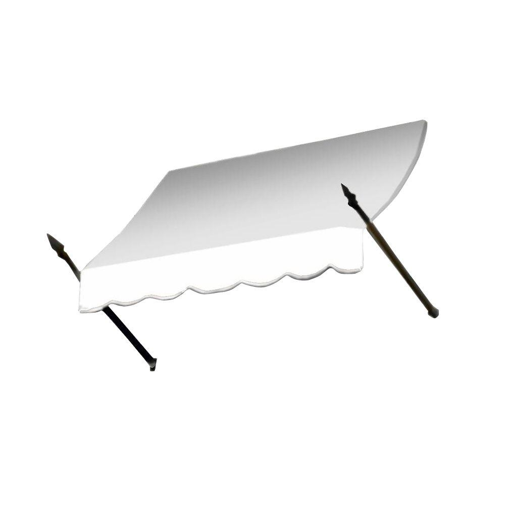 AWNTECH 4 ft. New Orleans Awning (31 in. H x 16 in. D) in OffinWhite