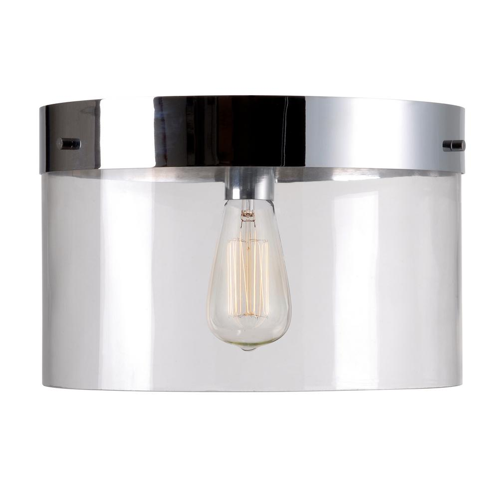 Kenroy Home Capri 1 Light Chrome Flush Mount
