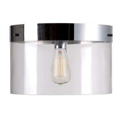 Capri 1 Light Chrome Flush Mount