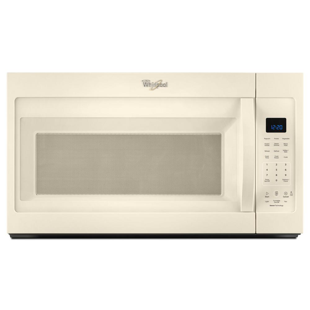 Whirlpool 30 in w 1 9 cu ft over the range microwave hood in biscuit shop your way online - Built in microwave home depot ...