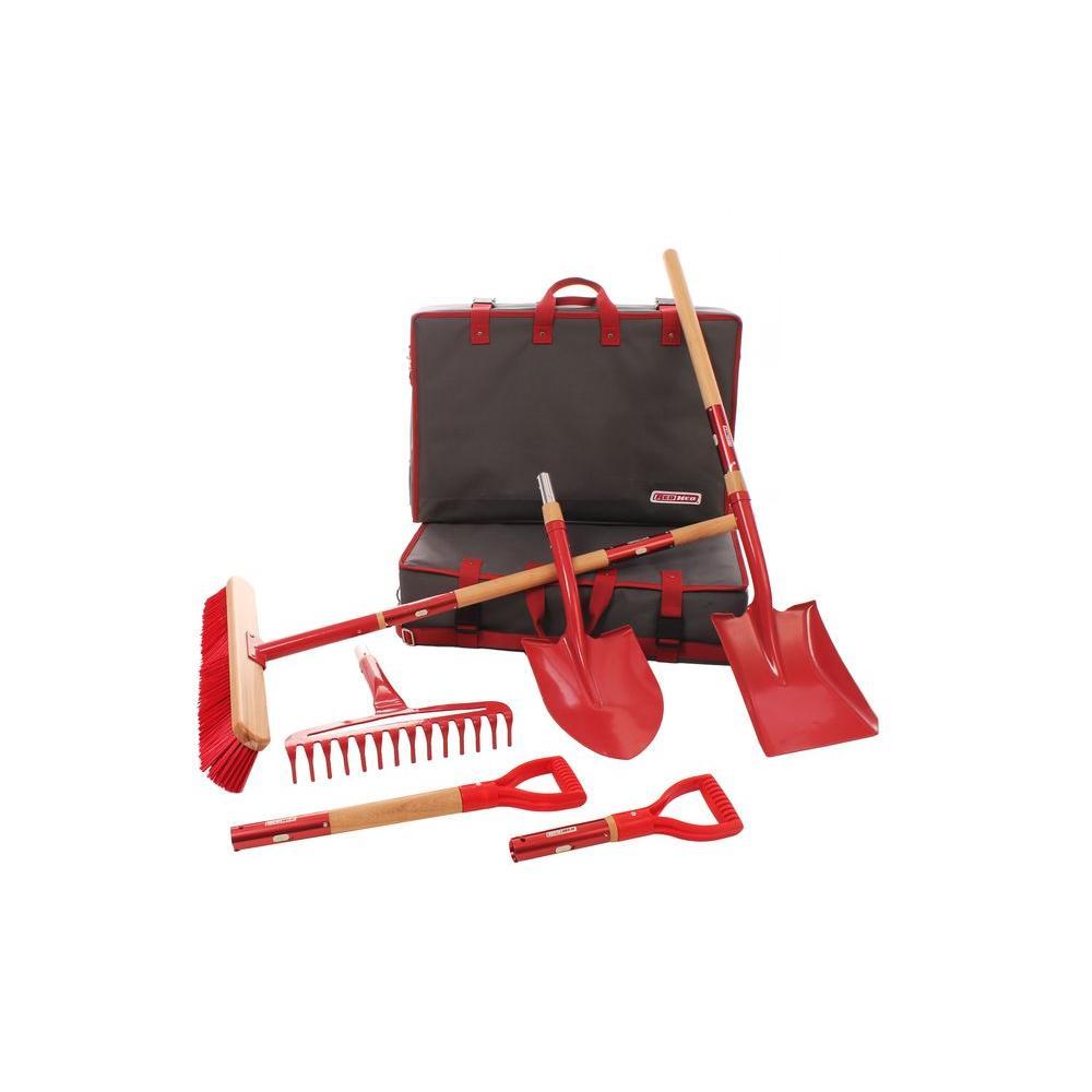 redhed interchangeable garden tool set 9 piece rhtek02 the home depot. Black Bedroom Furniture Sets. Home Design Ideas