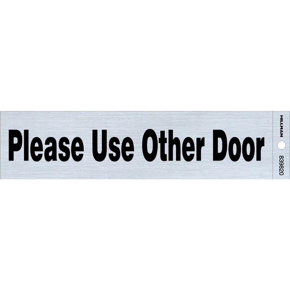 the hillman group 2 in x 8 in plastic use other door sign 839820 0