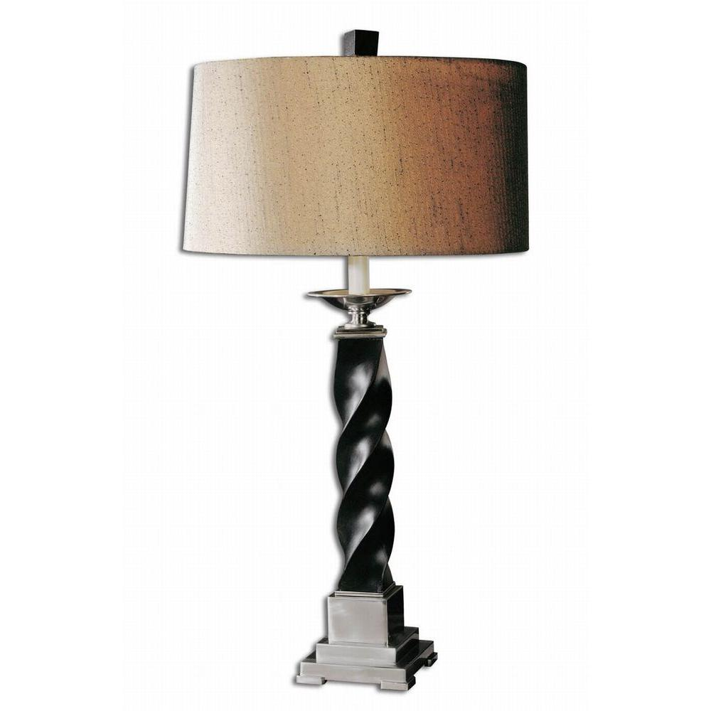 Global Direct 31.5 in. Black Twisted Table Lamp-DISCONTINUED