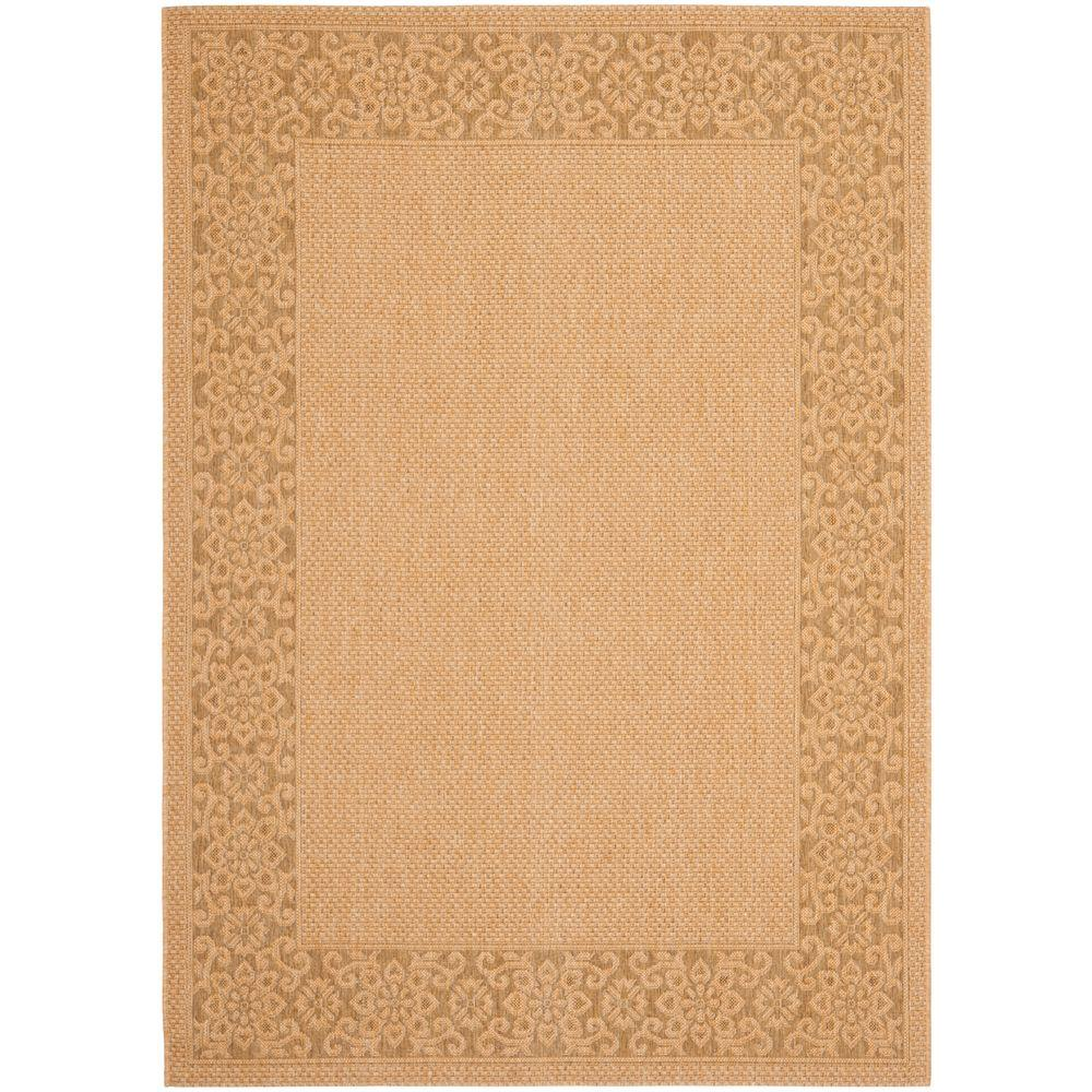 Safavieh Courtyard Natural/Gold 4 Ft. X 5 Ft. 7 In. Indoor